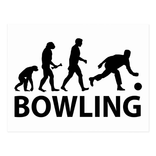 Bowling Evolution Postcard