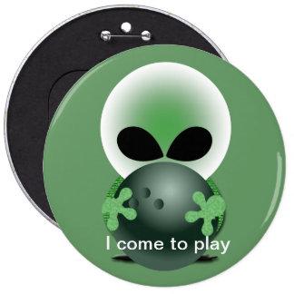 Bowling Fan 6 Inch Round Button
