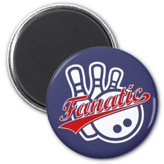 Bowling Fanatic 2 Inch Round Magnet