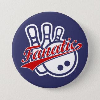 Bowling Fanatic Pinback Button