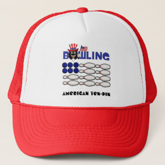 Bowling Flag Hat with flag