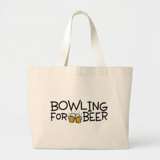 Bowling For Beer Large Tote Bag