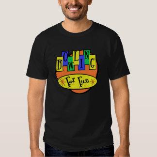 Bowling For Fun Black Retro Style Bowling Shirt