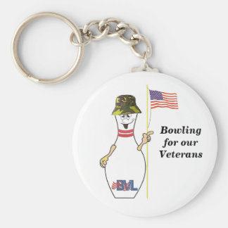Bowling for our Veterans Keychain