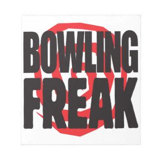 Bowling Freak Notepad