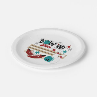Bowling Fun Party paper plate