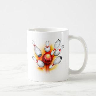 Bowling game (top view) classic white coffee mug