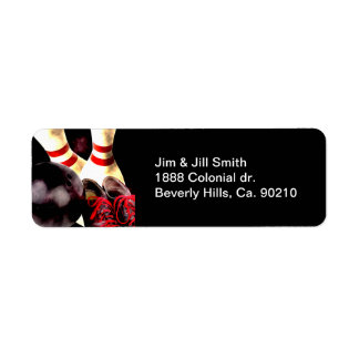 Bowling Gear Grunge Style Label