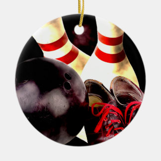 Bowling Gear Grunge Style Christmas Tree Ornament
