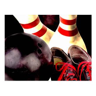 Bowling Gear Grunge Style Postcard