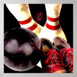 Bowling Gear Grunge Style Print