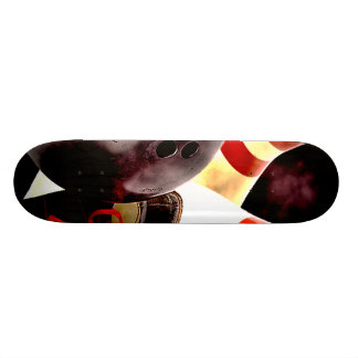 Bowling Gear Grunge Style Skate Deck