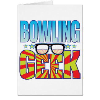 Bowling Geek v4 Greeting Card