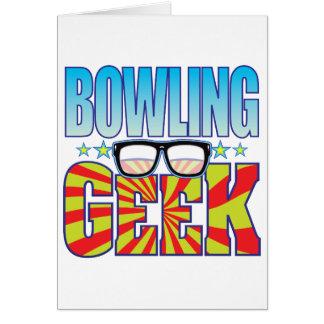 Bowling Geek v4 Greeting Card