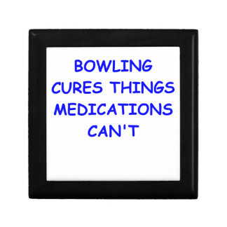 bowling keepsake boxes