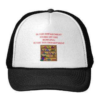 BOWLING gifts t-shirts Trucker Hat