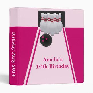 Bowling Girl Birthday Party Photo Album Binder
