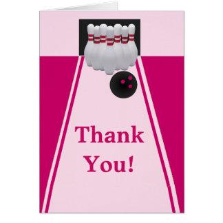 Bowling Girl Birthday Thank You Card