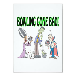 Bowling Gone Bad 5x7 Paper Invitation Card