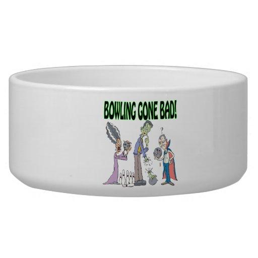 Bowling Gone Bad Pet Water Bowl