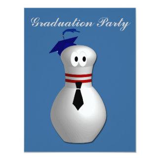 Bowling Graduation Party Card