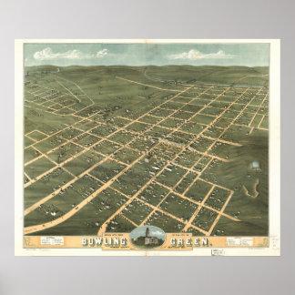 Bowling Green Kentucky 1871 Panoramic Map Poster