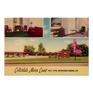 Bowling Green, Kentucky Colletdale Motor Court Poster