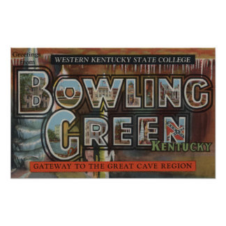 Bowling Green, Kentucky - Large Letter Scenes Print