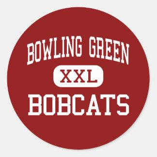 Bowling Green - linces - alto - Bowling Green Pegatina Redonda