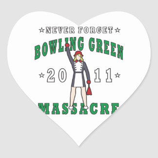 Bowling Green Massacre 2011 Heart Sticker