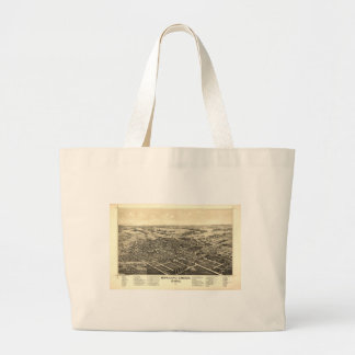 Bowling Green Ohio 1888 Map Jumbo Tote Bag