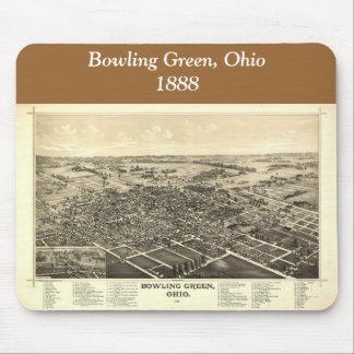 Bowling Green Ohio 1888 Map Mousepad