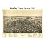 Bowling Green Ohio 1888 Map Postcards