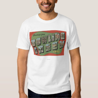 Bowling Green, Ohio - Large Letter Scenes T-shirt