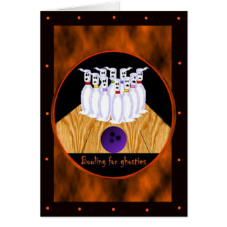 Bowling Halloween Template Cards