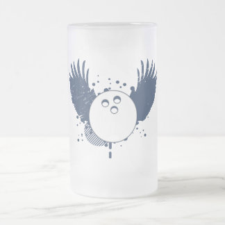 bowling : hi-fi frosted glass beer mug