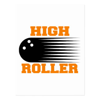 Bowling High Roller Bowler Postcard