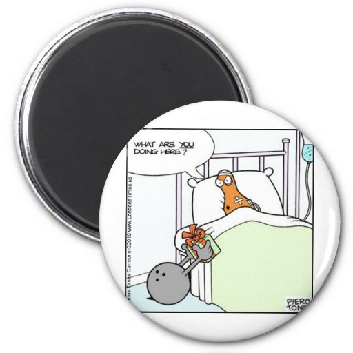 Bowling Hospital Funny Tees Cards Mugs Gifts Fridge Magnet