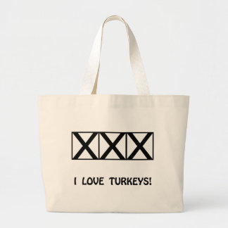 Bowling, I Love Turkeys T-Shirts & Gifts Canvas Bag