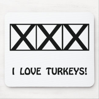 Bowling, I Love Turkeys T-Shirts & Gifts Mouse Pad