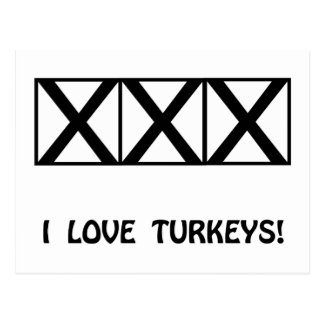 Bowling, I Love Turkeys T-Shirts & Gifts Postcard