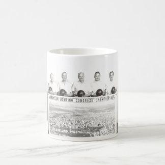 Bowling in 1964 coffee mug