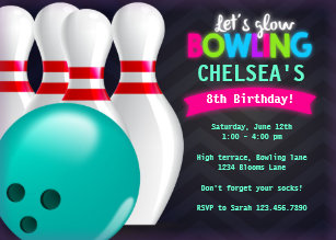 Bowling invitations 1000 bowling announcements invites bowling invitation stopboris Gallery