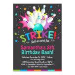 bowling birthday invitation, bowling birthday