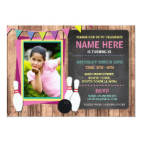 Bowling Invite Photo Bowl Chalk Bowls Invitation