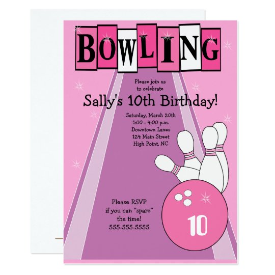 Bowling Invite - Updated Link in Description