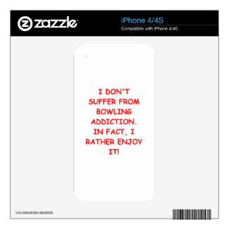BOWLING iPhone 4 DECALS