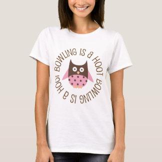 Bowling Is A Hoot Female Bowling T-Shirt