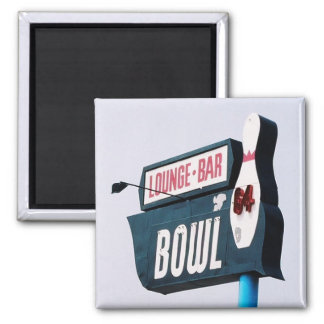 Bowling is Fun 2 Inch Square Magnet