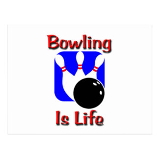 Bowling Is Life Postcard